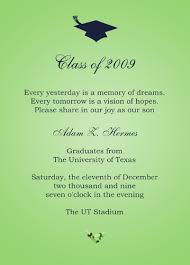 school graduation announcement exle