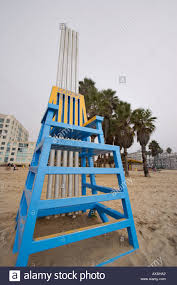 Big Beach Chair Big Lifeguard Chairs Santa Monica Beach Stock Photo Royalty Free