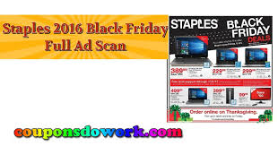 black friday 2016 ad scans staples black friday 2016 ad scan u2013 all 15 pages