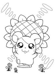 dexter hamtaro coloring pages colouring pages hamtaro