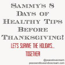 peace and sammy s 8 days of healthy tips before