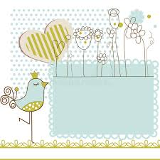 baby shower frames baby shower with frame for text stock vector illustration of
