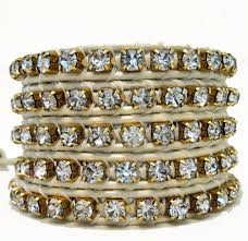leather rhinestone bracelet images Gold leather wrap bracelets onsra designer bracelets jpg