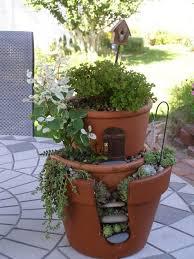 broken pot fairy garden tutorial with video fairy pots fairy