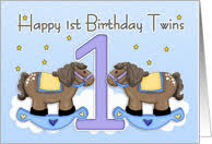 1st birthday cards for twins from greeting card universe