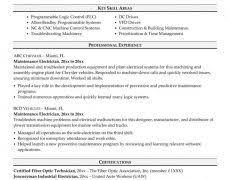 Resume For Maintenance Engineer Maintenance Manager Resume 1 Sample Page Nardellidesign Com