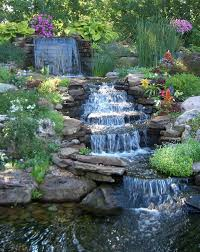 backyard waterfall wall home outdoor decoration