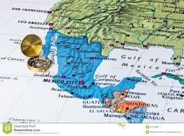 Acapulco Mexico Map by Mexico Map And Compass Stock Photo Image 53720930