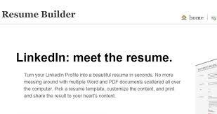 Visual Resume Builder Linked In Resume Builder Linkedin Resume Tips Resume Builder
