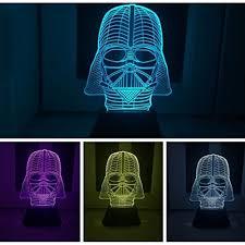 padaday star war darth vader 3d optical illusion desk table light