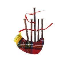miniature bag pipe musical instrument realistic ornament bagpipe