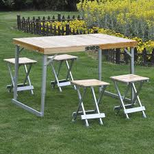 portable folding picnic table portable folding picnic table 4 seats chairs cing park outdoor