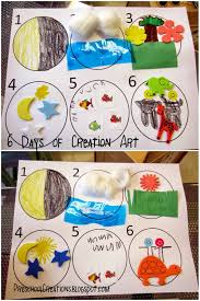 preschool creations 6 days of creation activities