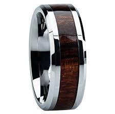 mens wedding bands wood inlay wood and metal wedding rings mindyourbiz us