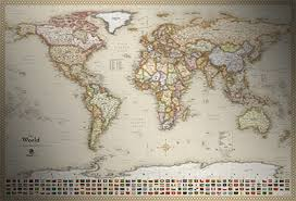 antique map world classic antique map style executive world map with flags