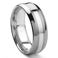 white gold wedding band pantere 8mm tungsten carbide 14k white gold inlay wedding band