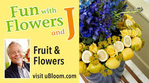 fruit flower arrangements how to arrange flowers create a fruit and flower arrangement