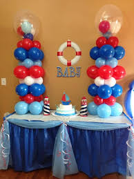 sailor baby shower decorations nautical baby shower baby boy shower babies