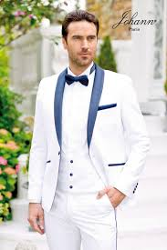 costume mariage blanc johann de mariage blanc revers satin marine