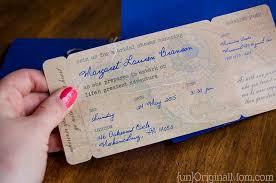 boarding pass wedding invitations diy boarding pass bridal shower invitations unoriginal