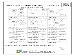 tenths and hundredths worksheets ratio worksheet