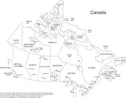Map Of Canada Blank Map Of Canada Provinces And Capitals 4 Maps Update 20001728