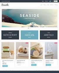 seaside theme providence ecommerce website template