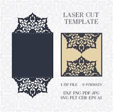 34 best laser cut wedding invitation template images on pinterest