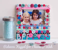 kids craft best friends forever frame therm o web