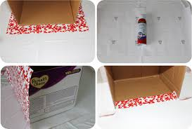 diy how to recycle cardboard boxes into pretty storage boxes with