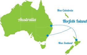 australia world map location where is norfolk island