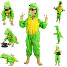Halloween Costumes Kids Animals Kids Animals Cosplay Green Dinosaur Onesie Pajamas Cartoon