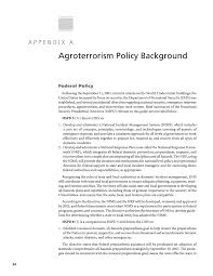 Your All Encompassing Guide To Appendix A Agroterrorism Policy Background A Guide To Traffic