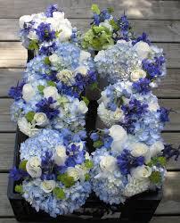 Blue Wedding Bouquets Dark Blue Delphinium Wedding Flowers