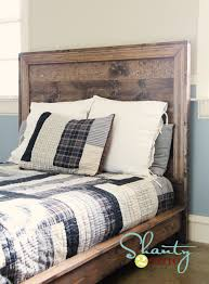 Plans For Platform Bed With Headboard by Ana White Hailey Planked Headboard Diy Projects