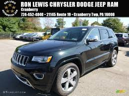 light green jeep cherokee 2015 black forest green pearl jeep grand cherokee overland 4x4