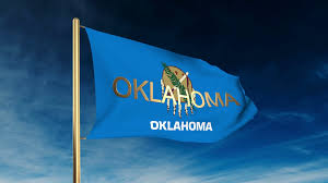 Flag Of Oklahoma Oklahoma Flag Slider Style With Title Waving In The Wind With