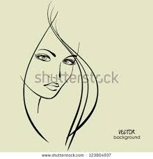 art sketched beautiful face profile stock vector 169883750
