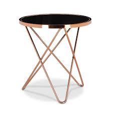 ventouse pour table basse en verre relaxdays table d u0027appoint ronde en cuivre hxlxp 58 x 55 x 55 cm