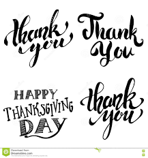 thank you thanksgiving thank you happy thanksgiving day hand drawn lettering isolated
