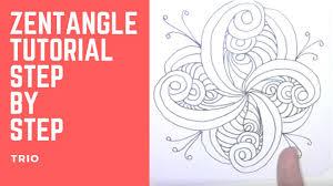 zentangle pattern trio zentangle tutorial trio abstract art tutorial youtube