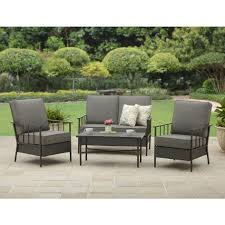 Small Patio Chair 4 Pc Outdoor Patio Set Patio Chair With Ottoman Set Patio