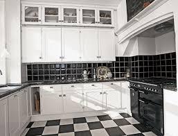 apartment in black and white classic color home interior design