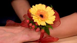 wrist corsages for homecoming gerbera homecoming dramatic corsages and boutonnieres