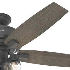 hunter wetherby cove ceiling fan hunter lincoln edison style led 52 in natural iron indoor downrod or