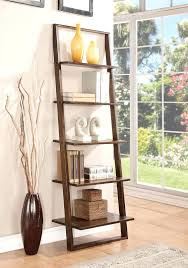 Natural Oak Leaning Shelves With Leaning Bookcase With Drawers Medium Size Of H Ladder Bookcase