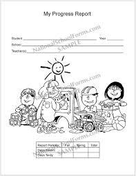 kindergarten progress report template report card envelope nationalschoolforms com my progress report 082 front