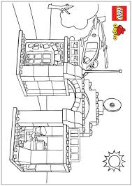 free coloring pages of lego city police station lego city police