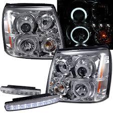 cadillac escalade fog lights amazon com 2004 cadillac escalade ccfl halo projector headlights
