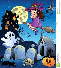 halloween scenery with cemetery 5 stock images image 20146384